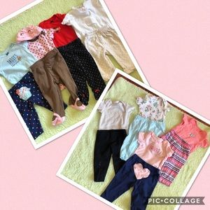 Lot of 8 outfits - 3M girl